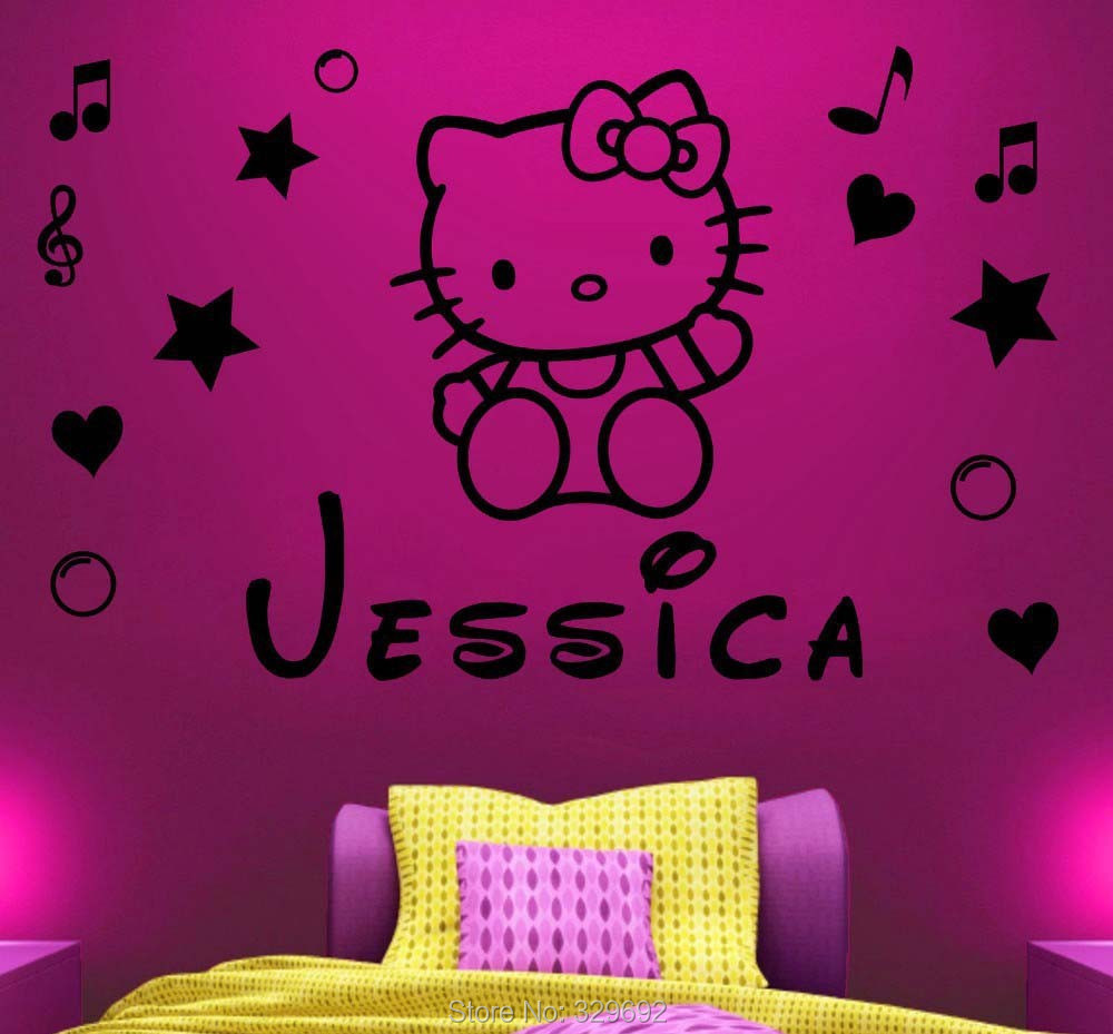 Wall Stickers Hello Kitty Part   34: ... Hello Kitty Name Wall Decal Part 72