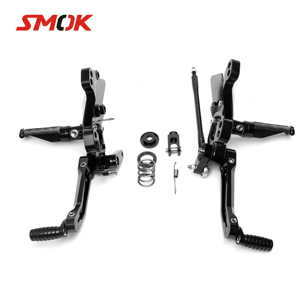SMOK Motorcycle CNC Aluminum Alloy Rear Sets Rearset Footrest Foot Rest Pegs For Kawasaki Z1000 Z 1000 2012 2013 2014 2015 2016 for 11 16 kawasaki z1000 z 1000 cnc aluminum adjustable rear set foot pegs pedal footrest rearset 2011 2012 2013 2014 2016