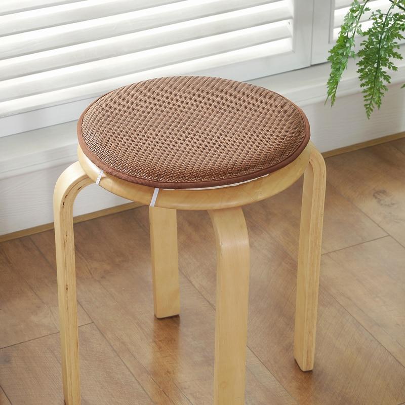 Cojín redondo de mimbre para silla de verano, almohadillas de asiento de  varios colores para silla de comedor, almohadillas de suelo de calidad 1 ...