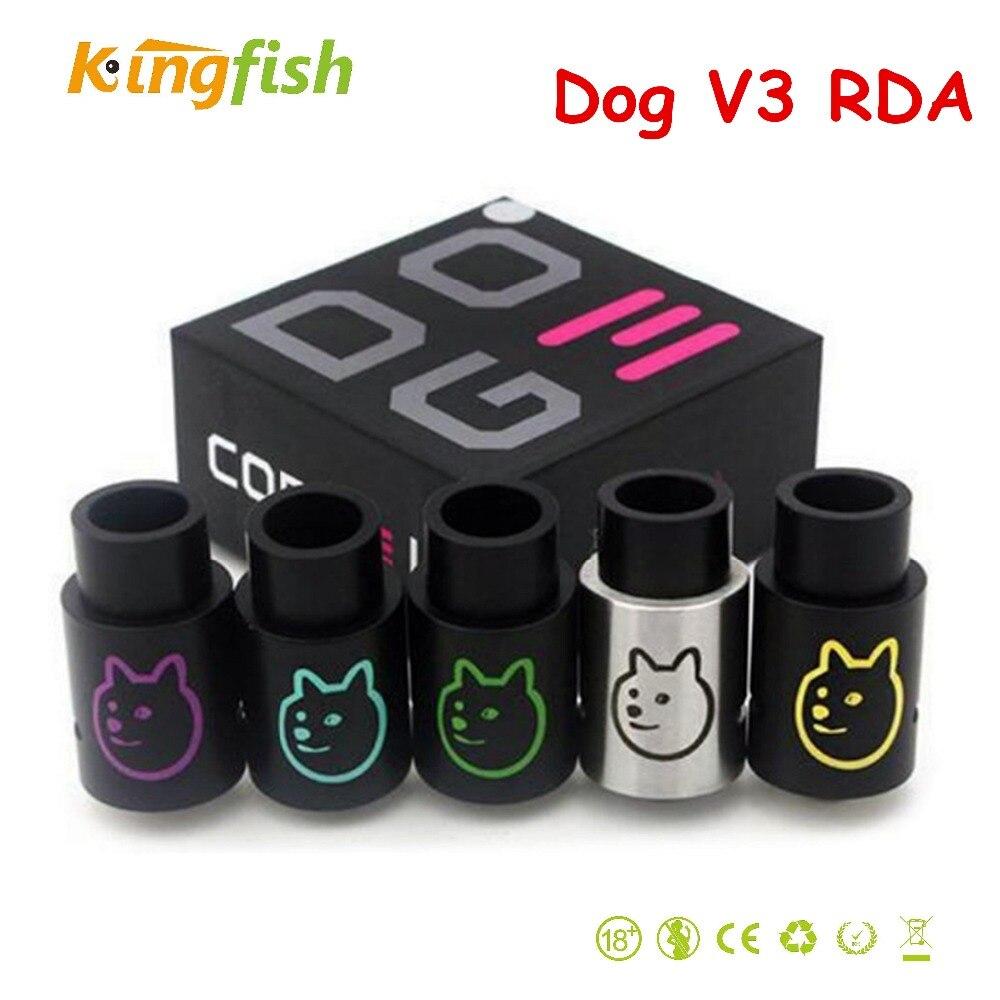 Dog V3 electronic cigarette RDA DIY colorful Dog 3 RDA VS RBA e cigarette atomizer fit
