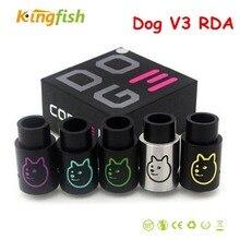 Perro V3 RDA cigarrillo electrónico DIY colorful Dog 3 RDA VS cigarrillo electrónico atomizador RBA ajuste caja mecánica mod cigarrillo electrónico vape pluma