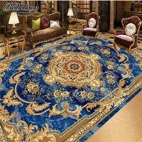 Beibehang Custom Flooring 3d European Style Marble Ceiling Carpet Pattern Floor Painting Room Bedroom Decoration Painting