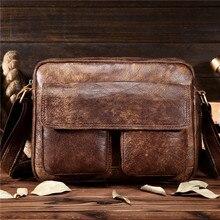 Neweekend Shoulder Bag Men Genuine Leather Messenger Casual Handbag Bag Male Travel Case Retro Business Briefcase Large Capacity недорого