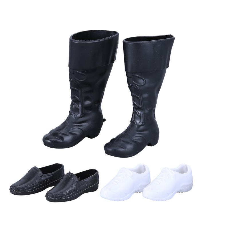 3 Pairs Doll Shoes High Boots Sneakers for Prince Ken Male Dolls Accessories for Barbie Boyfriend Ken Dolls Shoes Baby Toy Gift