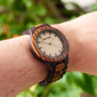 BOBO BIRD Mens Watches Top Brand Luxury Ebony Wooden Watch With Japan Movement In Gift Box