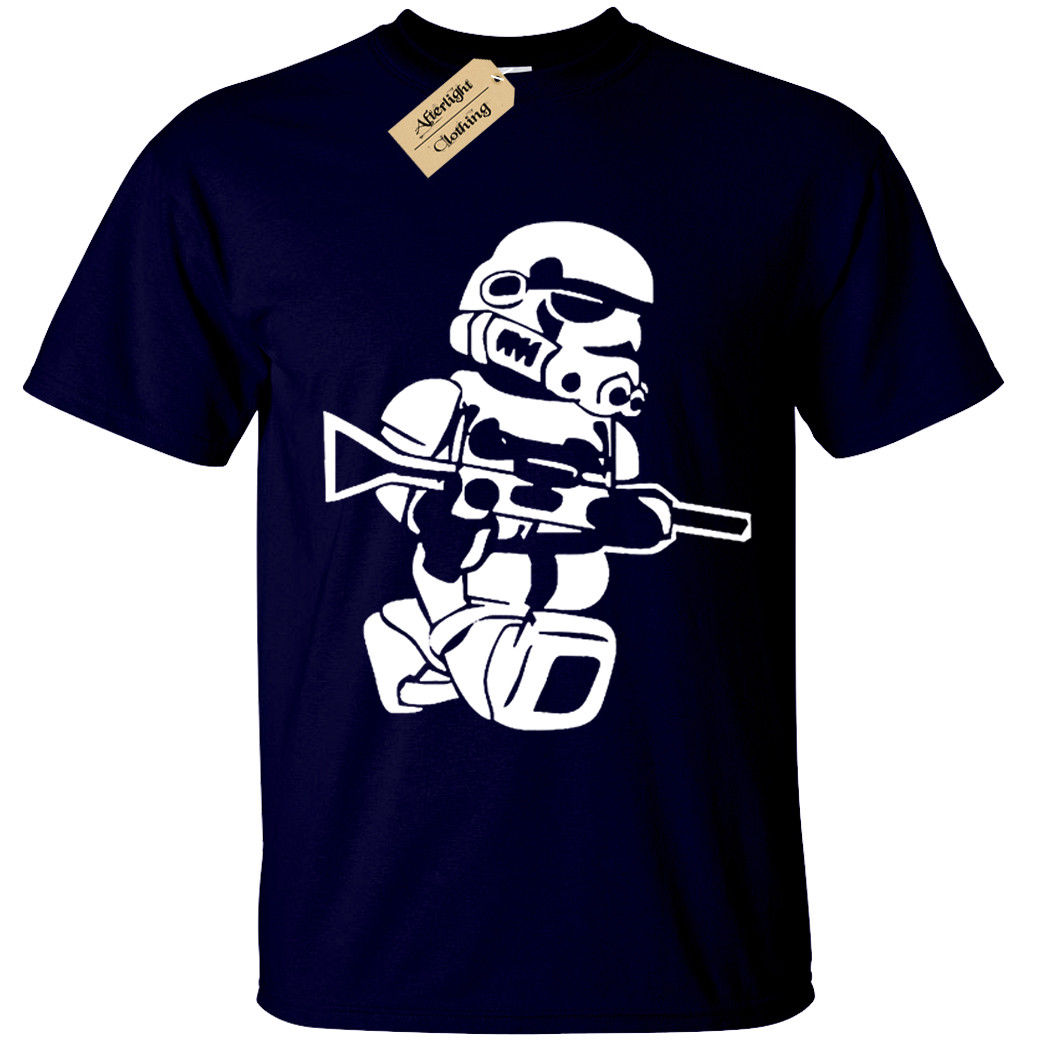 LEGO TROOPER Mens T-Shirt BIG PRINT storm wars jedi vader star yoda funny top Free shipping  Unique Cotton   O-Neck T Shirt