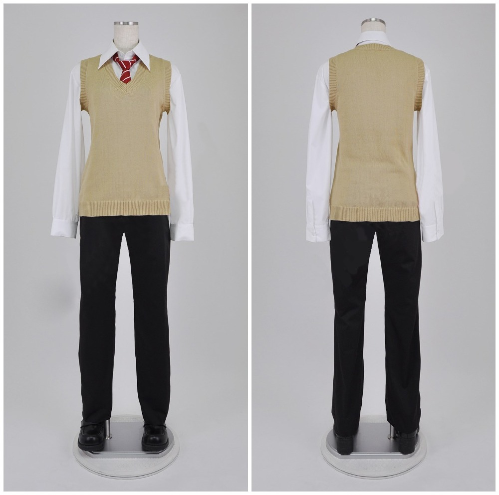 Haikyuu!!  Nekoma High School summer uniform kozume kenma / Kuroo Tetsurou cosplay halloween costumes