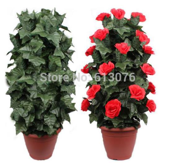 Blooming Rose Bush - Remote Control(30 Flowers,Battery Ver) Magic Trick Flower Appear/Disappear Magia Stage Party Wedding Funny blooming rose bush remote control 30 flowers magic trick flower magicclose up magic