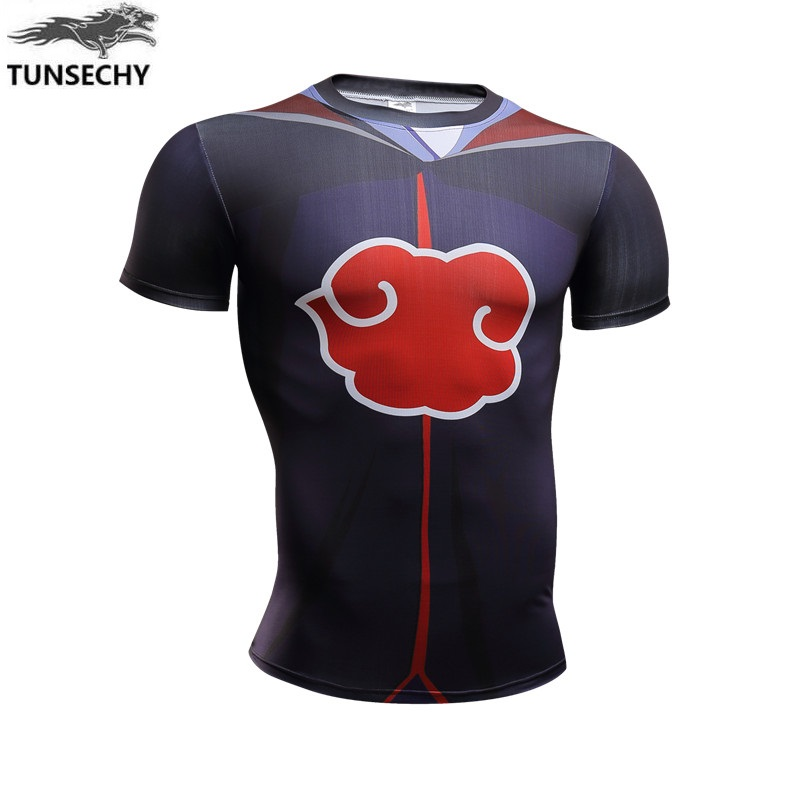 New 2017 Popular anime naruto blare of the role of design digital printing short sleeve T-shirt brand men's fashion T-shirt