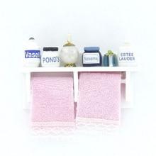 1 12 Dollhouse Miniature Wood Bathroom Wall Mount White