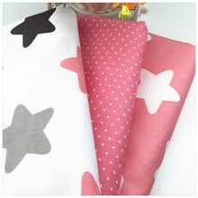diy handmade sewing tilde patchwork baby the cloth bedding home textile pink star dot cloud print twill cotton fabric tissue