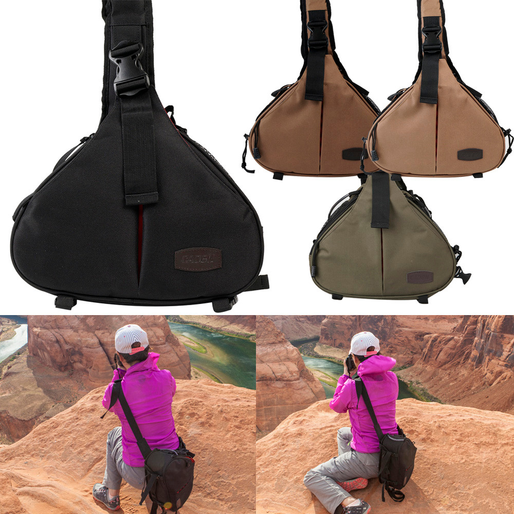 backpack Sports bag men's women's backpack camping Hiking Shoulder Digital Camera Bag With Rain Cover Triangle Package fast shipping lowepro pro runner 350 aw shoulder bag camera bag put 15 4 laptop with all weather rain cover