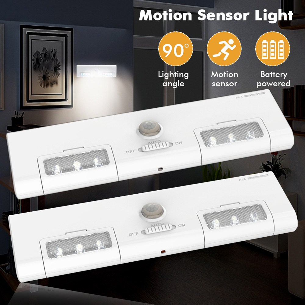 LED Under Cabinet Light PIR Motion Sensor Lamp For Wardrobe Cupboard Closet Drawer Kitchen Night Light Adjustable AAA
