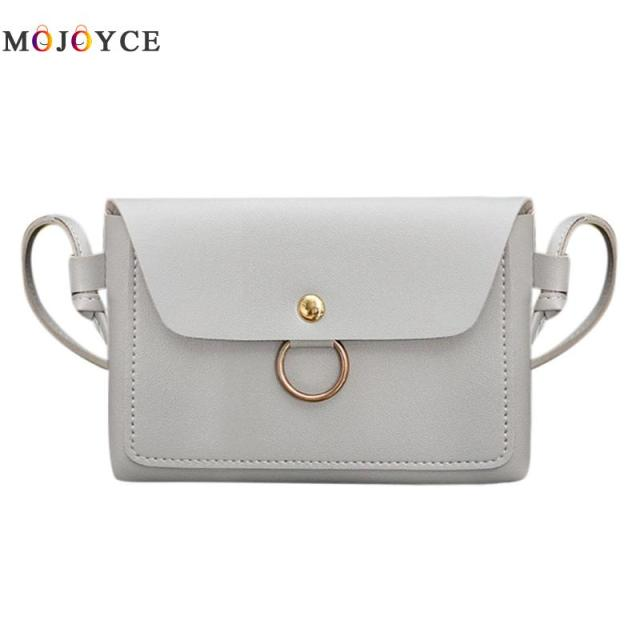 Women PU Leather Crossbody Messenger Bag Girls Small Sling Shoulder Bags Ladies Closure Cover Flap Handbag