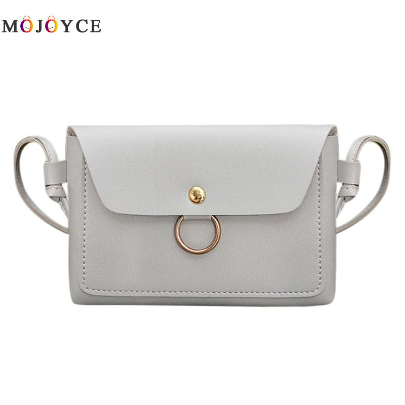 New Cute Solid Color Hasp Kids Girls Circle Mini Shoulder Bag Flap Messenger Handbags Small Leather Crossbody Bags For Women At Any Cost Luggage & Bags
