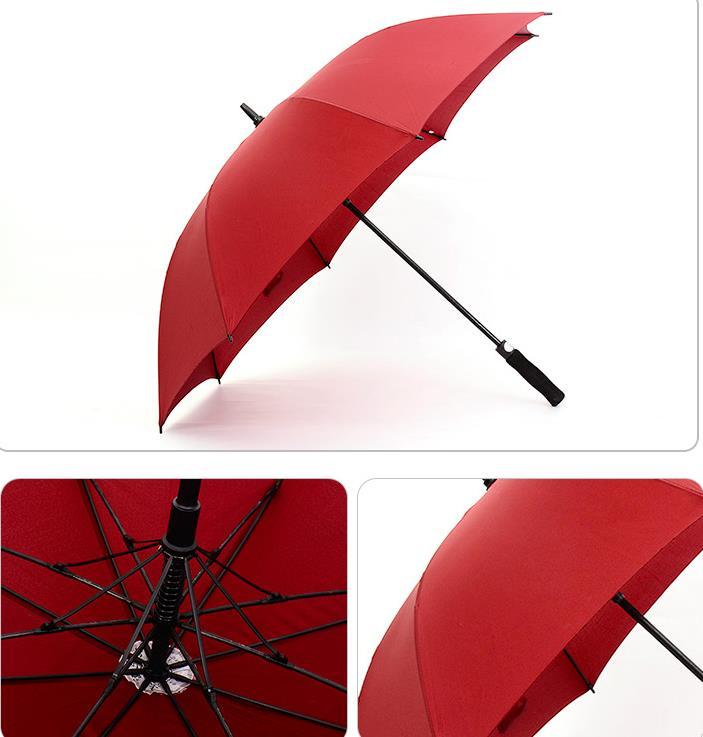 Straight Long Handled Golf Umbrellas Fully-automatic Sunny Rainy 8K Umbrella Rain Gear solid colors festive prefect gift