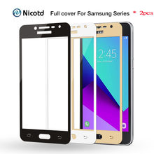 2pcs/lot Color Full Cover Tempered Glass for Samsung Galaxy C5 C7 C5000 C7000 J5 J7 Prime S6 S7 A3 A5 A7 2017 Screen Protector(China)