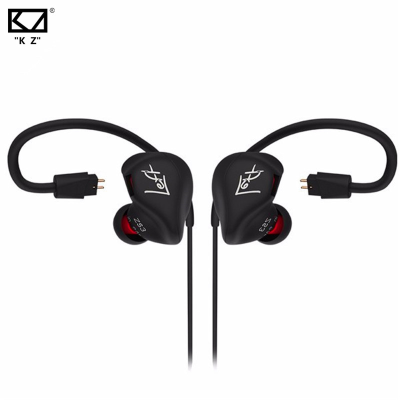 Original KZ ZS3 In Ear Earphone Stereo Running Sport Earphone 3.5mm Noise Cancelling HIFI Earbuds With Mic/ No Mic