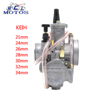 Sclmotos Motorcycle Keihi Carburetor 21 24 26 28 30 32 34mm Carb Fit 2T/4T Engine Power Race Scooter Motocross GY6 JOG CBR DT