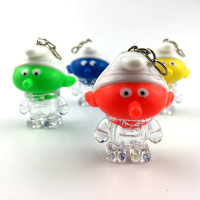 Creative LED Luminous Cartoon Elf keychain Doll Toy Pendant Activity Promotional Small Gifts Accessories Key Ring