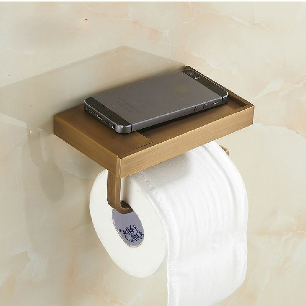 wall mounted antique brass finish bathroom accessories toilet paper holder bathroom sets toilet roll holder sanitary