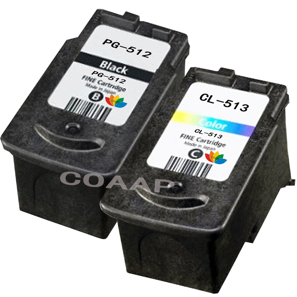 2 Pcs PG-512 CL-513 PG512 Refillable <font><b>Ink</b></font> <font><b>Cartridge</b></font> For <font><b>Canon</b></font> Pixma iP2700 MP240 MP250 <font><b>MP260</b></font> MP270 MP280 MP480 MX350 image