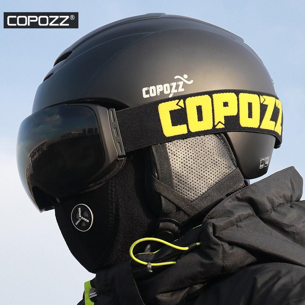 COPOZZ Ski Casque Moulée Intégralement Snowboard casque Hommes Femmes De Patinage Planche À Roulettes Ski Casque - 6