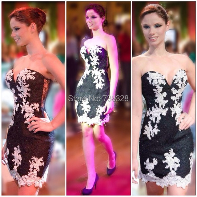 Hot Sale 2014 Mini Backless Applqiues Formal Cocktail Homecoming Dresses Gowns Vestido De Festa Custom Make Short Cocktail Dress
