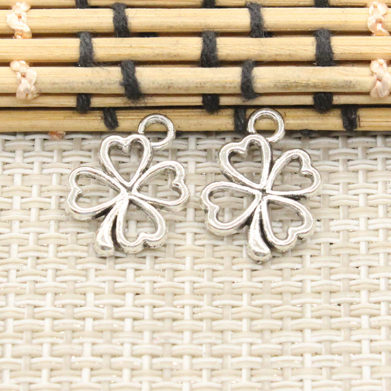 ツ)_/¯10 unids Amuletos irlandés afortunado trébol de cuatro hojas ...