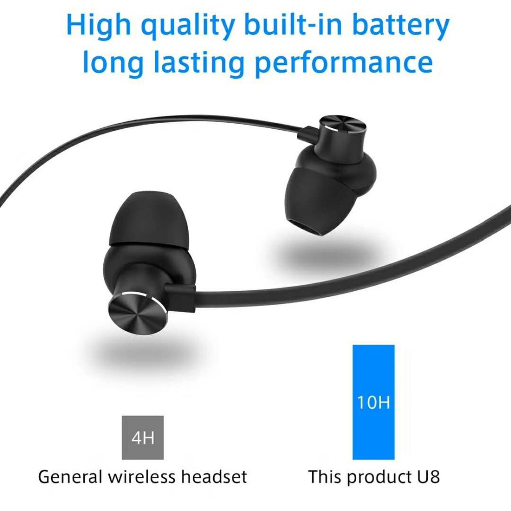 Bluetooth Gym Headphones,Noise Cancelling Headphones with Microphone - Magnetic HD Stereo Wireless Headphones,Bluetooth earphone image