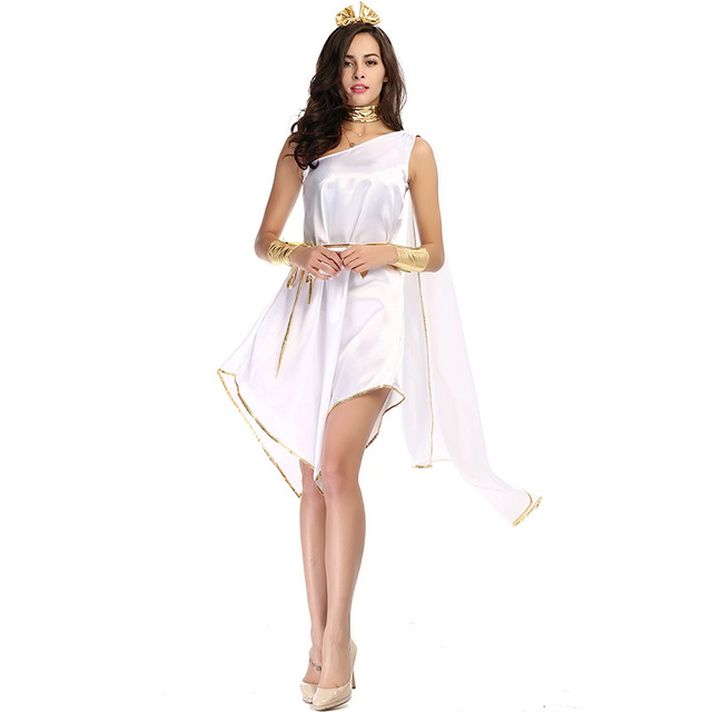 Women Halloween Ancient Greek Goddess Costume Sexy White Roman Princesses Cosplay Holiday Party Fancy Dress  sc 1 st  AliExpress.com & Women Halloween Ancient Greek Goddess Costume Sexy White Roman ...