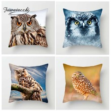 Fuwatacchi Animals Cushion Cover Flying Birds Pillowcase For Sofa Bed Home Decor Owl Throw Pillow New 2019 Arrives