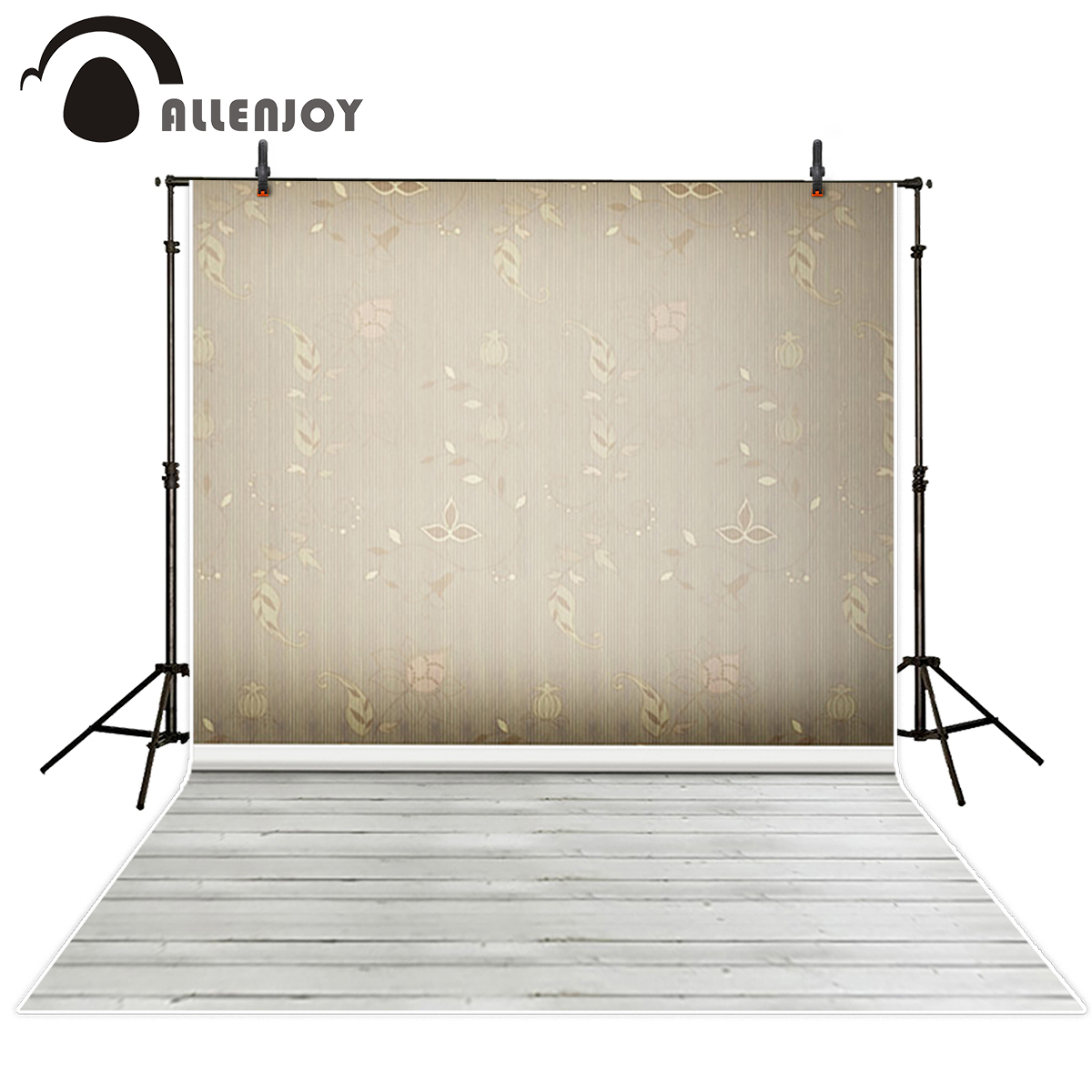 Allenjoy flower pattern wall wood floor photography backdrops stripes board vintage wallpaper background photo studio props shengyongbao 300cm 200cm vinyl custom photography backdrops brick wall theme photo studio props photography background brw 12