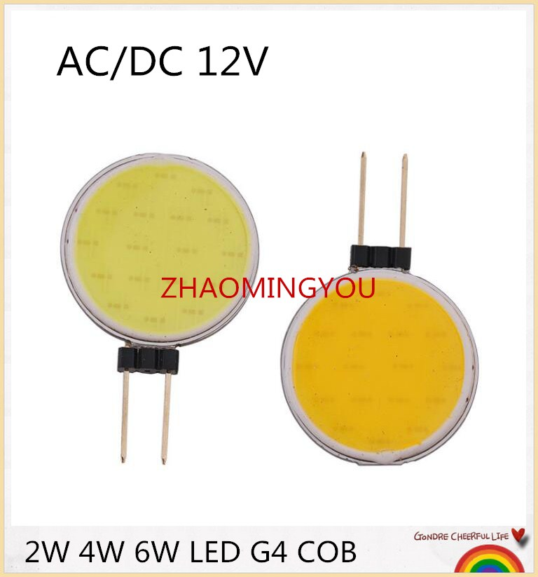 Light Bulbs Active Yon 10pcs G4 Cob Led 12v Led Bulbs 2w 4w 6w Led G4 Cob Lamp Replace 20w 40w 50w Halogen Lamp G4 Led Warm Cold White Dc12v Packing Of Nominated Brand Lights & Lighting