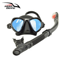 Keep Diving Genuine Full-dry Snorkeling Mask with Breath Tube Foldable and Light Weight for Scuba Diving Snorkeling Swimming(China)