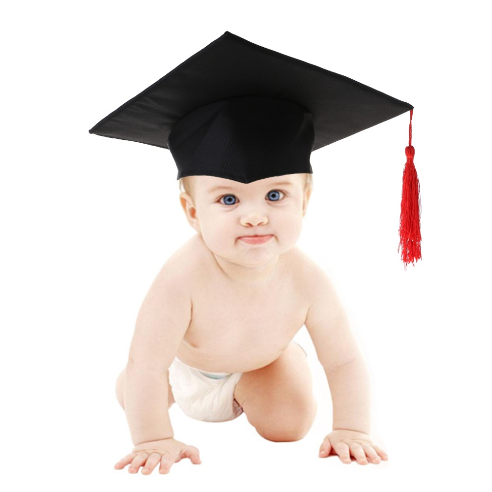 Baby Hat Photography Photo Commemorative Memorial Doctor Cap Funny Cute Costume Props Kids Newborn Souvenir Tassel Hat