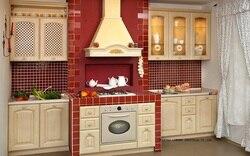 Классический дубовый деревянный кухонный шкаф (LH-SW078)