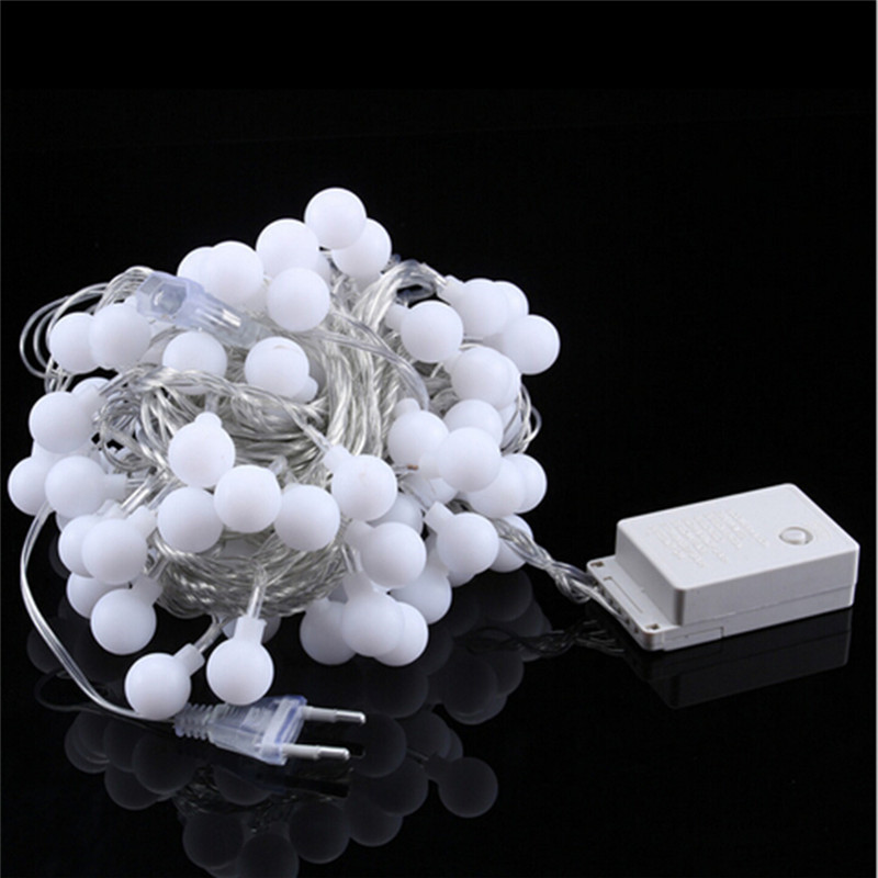 10M 100 Ball Multicolor Christmas LED String Lights 110V 220V IP44 Outdoor Wedding Party Holiday Decoration Lights Luces 6