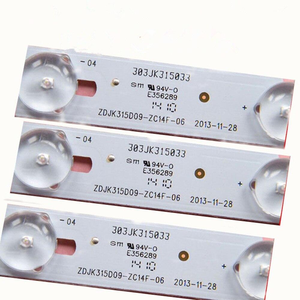 Original And New Lamp Strip For 32inch 9lamp ZDJK315D09-ZC14F-06 303JK315033 3V 607mm
