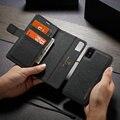 WHATIF Кожаные чехлы-книжки из крафт-бумаги для iPhone 6 s 7 8 plus 2 в 1  съемный чехол для iPhone 11 Pro X Xr Xs Max  чехол-бумажник