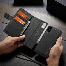 Whatifクラフト紙レザーフリップケースiphone 6 s 7 8プラス2で1着脱式ケースiphone 11 pro x xr xs最大財布ケース