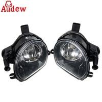Pair Amber Fog Light Lamp Front Bumper Halogen Clean Fog Lamps Foglights For Audi Q7 07