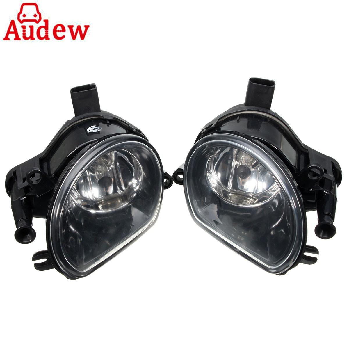 Pair Amber Fog Light Lamp Front Bumper Halogen Clean Fog Lamps Foglights For Audi Q7 07-09/A3 04-08 8P0941699A