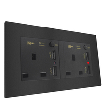 146 Type UK Switched Socket Panel With 4 USB Port Standard Wall Plug Power 13A Outlet