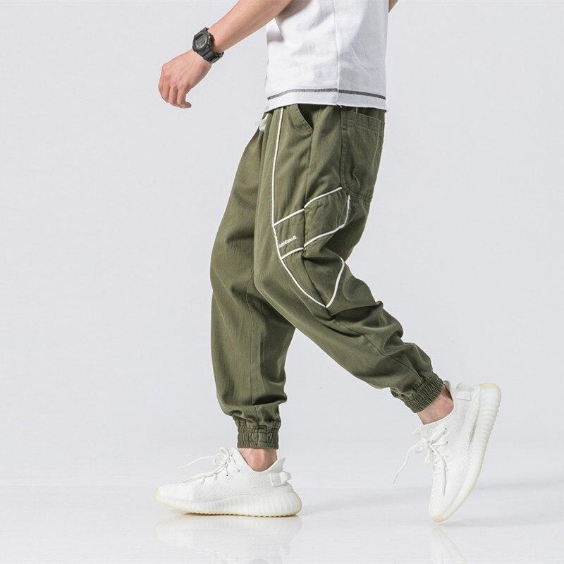 verde Negro longitud Tobillo Baggy De Militar Carga Pantalones Safari Suelta Streetwear Casual caqui Hop Estilo Hip wF6POpqq