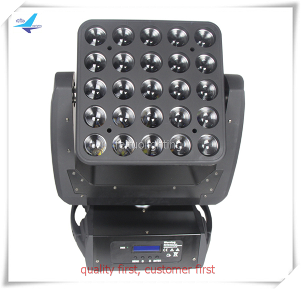 Y-2pcs/lot <font><b>5&#215;5</b></font> <font><b>led</b></font> moving head Osram lamp 25x12w rgbw 4in1 matrix <font><b>led</b></font> moving head light