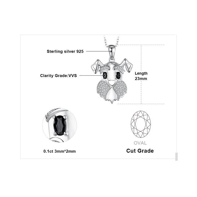 Black Spinel Dog Necklace