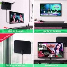 Tv-Antenna Signal-Amplifier HDTV Miles-Range Digital Indoor 50 Kebidumei 25DB 4K