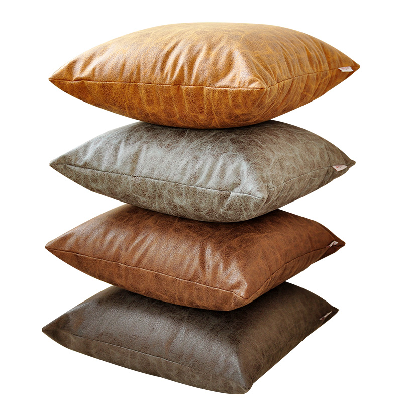 <font><b>30x50</b></font>/45x45cm/55x55/60x60cm imitation leather cushion cover sofa pillowcase decorative thicken pu throw <font><b>pillow</b></font> <font><b>case</b></font> <font><b>pillow</b></font> cover image