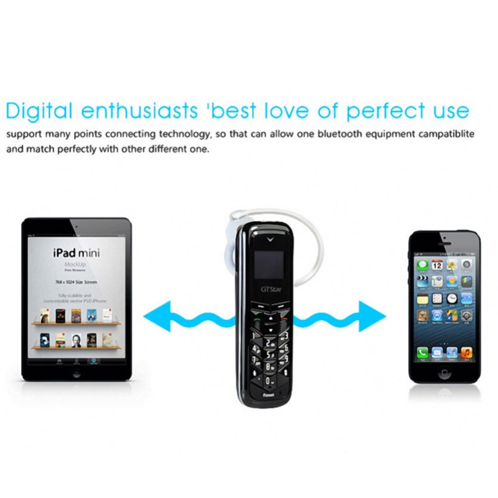 EDAL BM50 Mini Bluetooth Headset Dialer Stereo Earphone Bluetooth Headphone Pocket Phone Charging Support SIM Card Dial Call
